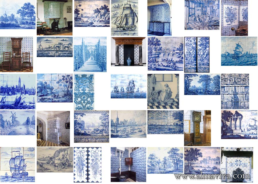 Almaviva Delft tile - We have hundreds of images in our archives that we use as source of inspiration. Here are some examples of decorated panels from Holland.