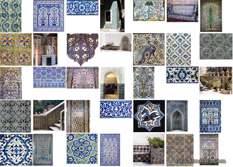 islamic tiles handmade Iznik zellige Isfahan