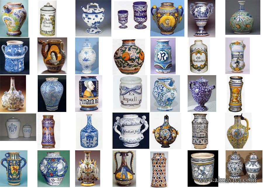 Apothicary jars - We have hundreds of images in our archives that we use as source of inspiration. Here are some examples of apothicary jars. All theses jars have been hand-thrown.