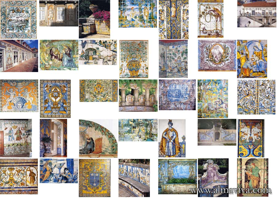 Azulejos Almaviva - We have hundreds of images in our archives that we use as source of inspiration. Here are some examples of polychromatic panels.