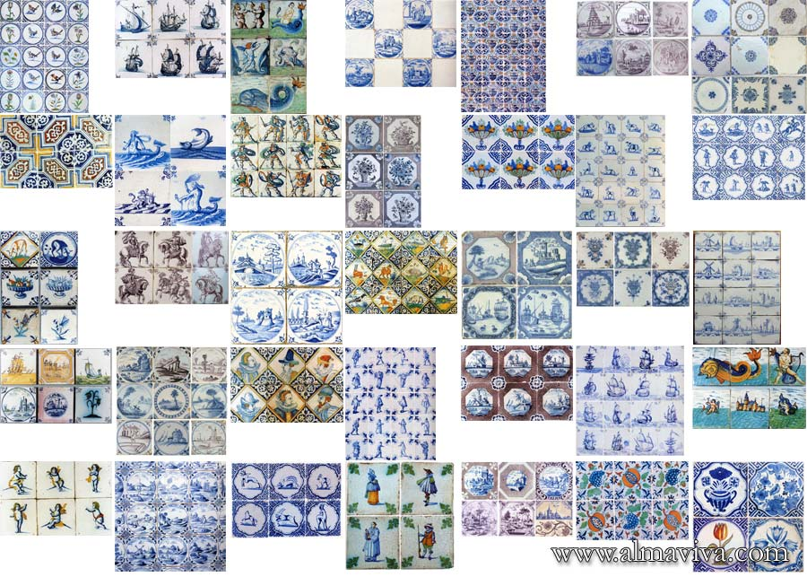 Almaviva Delft tile - We have hundreds of images in our archives that we use as source of inspiration. Here are some examples of Delft tiles (see keywords)