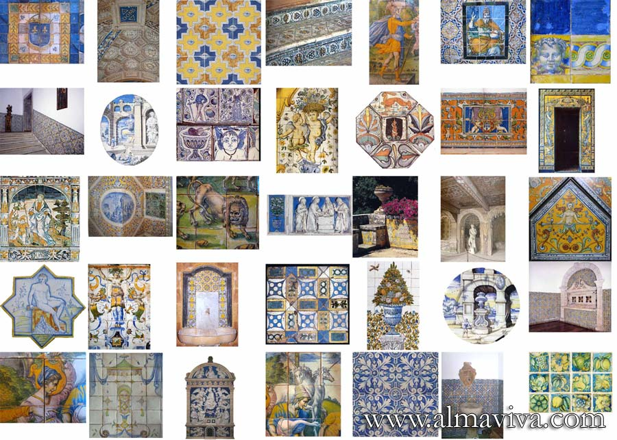 Almaviva Renaissance tiles - We have hundreds of images in our archives that we use as source of inspiration. Here are some examples.