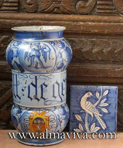 Ref. POT3 - Apothicary jar Venise. H 22 cm (about 8,6'')
