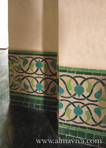 Frise en zellige de style Art Nouveau