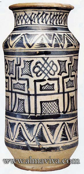 Ref. POT12 - Apothicary jar Montelupo. H 26 cm (about 10,2'')