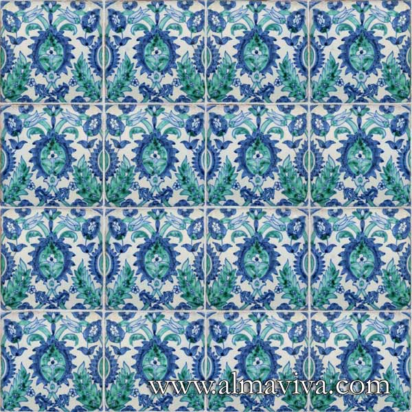 Almaviva Islamic tiles - Ref. OR6 - Tiles 15x15 cm (about 6''x6'')