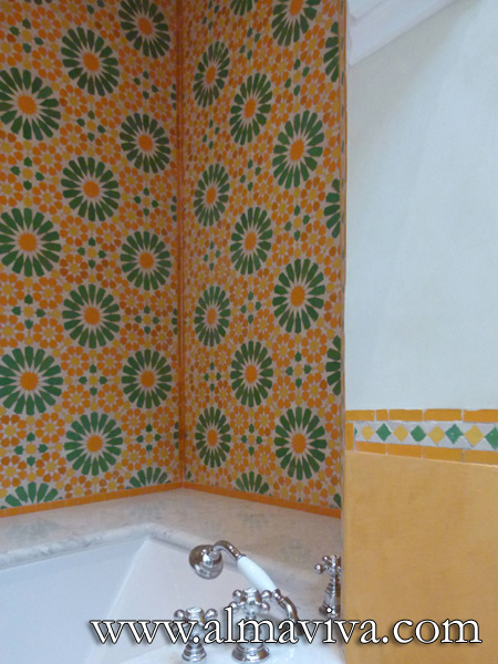 Decor inspired of traditional Moroccan zellige