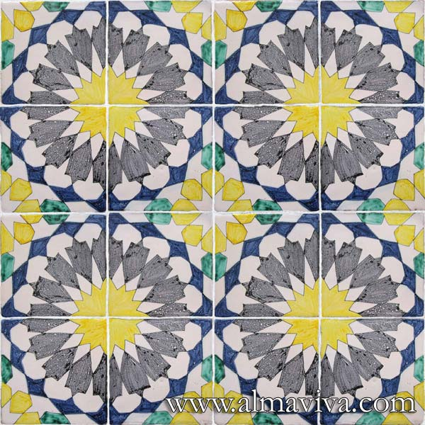 Almaviva Islamic tiles - Ref. OR2 - Tiles 15x15 cm (about 6''x6'')