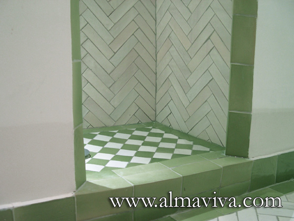 Almaviva Handmade tile - Ref. CD32 - Zellige in a bathroom. Moroccan style tiles