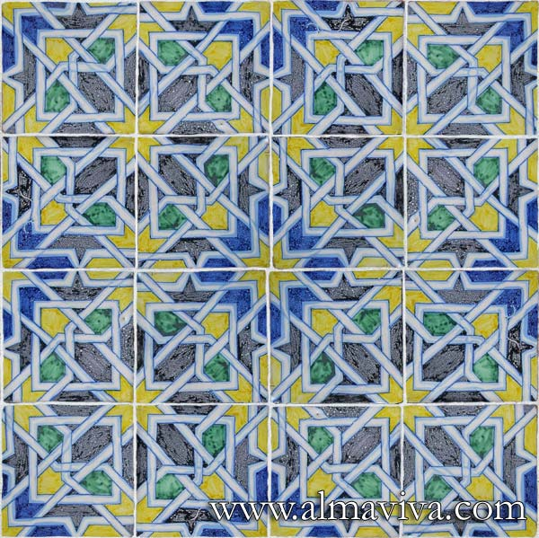 Almaviva Islamic tiles - Ref. OR1 - Tiles 15x15 cm (about 6''x6'')