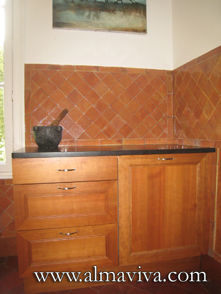 Almaviva Handmade tile - Ref. CD42 - Terracotta tiles for kitchen