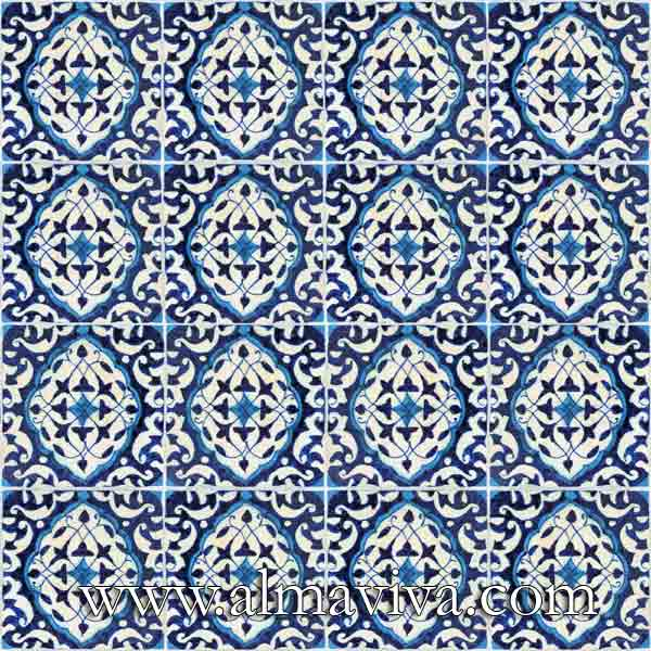 Almaviva Islamic tiles - Ref. OR21 - Mandorle, tiles 15x15 cm (about 6''x6'')