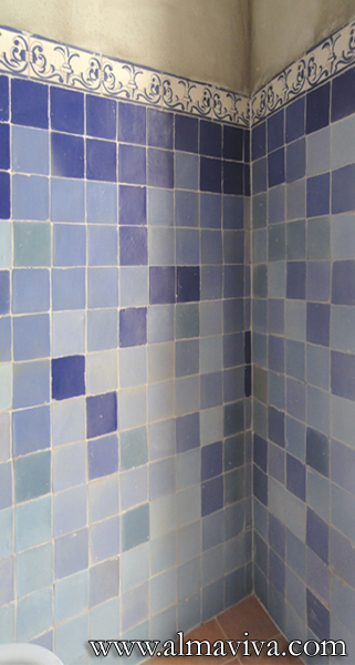 Almaviva Handmade tile - Ref. CD10 - Matt plain tiles in shades of blue