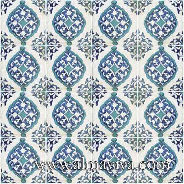 Almaviva Islamic tiles - Ref. OR22 - Mandorle, tiles 15x15 cm (about 6''x6'')