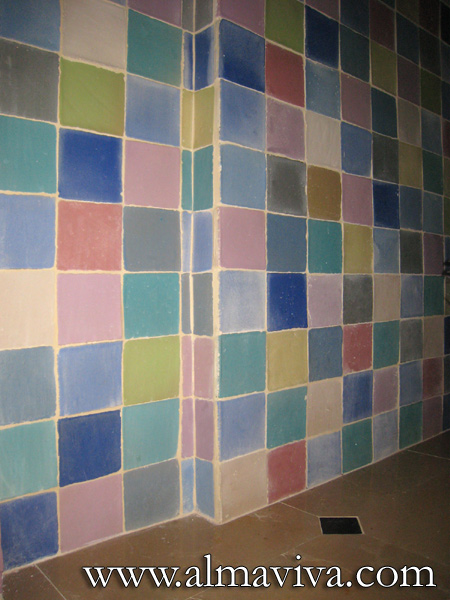 Almaviva Handmade tile - Ref. CD04 - Many-coloured wall tiles. 10x10 cm (about 4''x4''), unpolished glazes of different colours