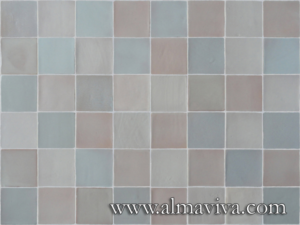 Almaviva Handmade tile - Ref. CD27 - Different whites glazes. Tiles 10x10, or 13x13, or 15x15 or 20x20 cm (about 4''x4'', 5''x5'', 6''x6'' or 8''x8''), glazed in various shades of white