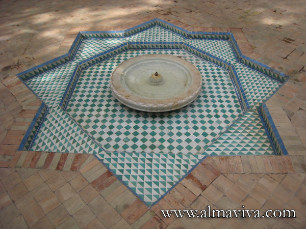 Fountain, figuring a moroccan star