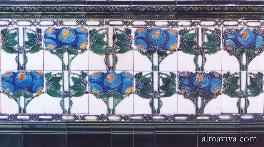 Ref. AN63 - Composition of tiles Art nouveau