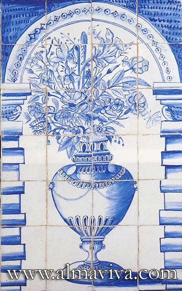 Ref. D20 - Blue bouquet. Dim. 60x95 cm (about 2'x3')