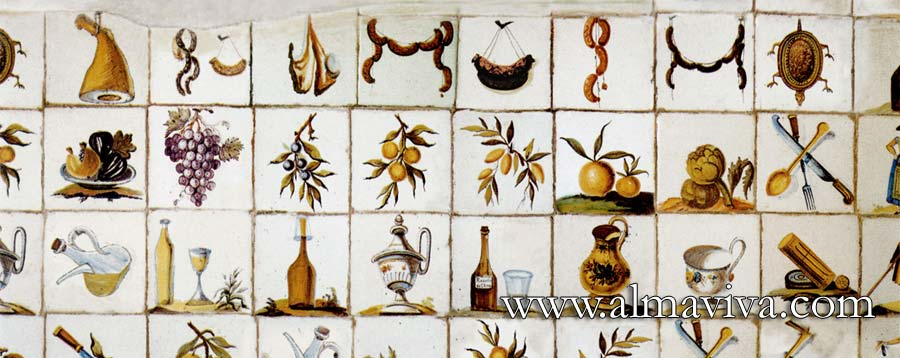 Almaviva Handmade tiles - Ref. CD08 - Spanish kitchen. Tiles 20x20 cm (about 8''x8'')