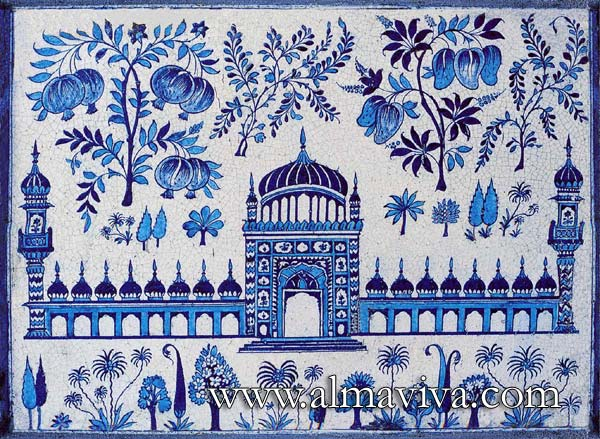 Almaviva Islamic tiles - Ref. OR20 - Mosque plaque from the Eastern Indies. Dim. 50x36 cm (about 20''x14'')