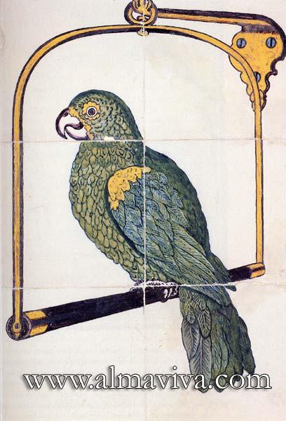 Réf. D07 - Perroquet. Dim. 45x30 cm