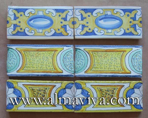 Ref. RC01 - Renaissance friezes, 7,5 x15 cm (about 3''x6'')