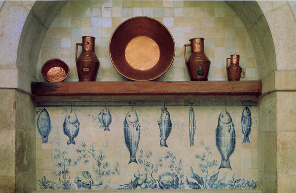 Azulejos Almaviva-Ref. A55 - Kitchen decor trompe-l'oeil. Tiles 13x13 or 15x15 cm (about 5''x5'' or 6''x6'')