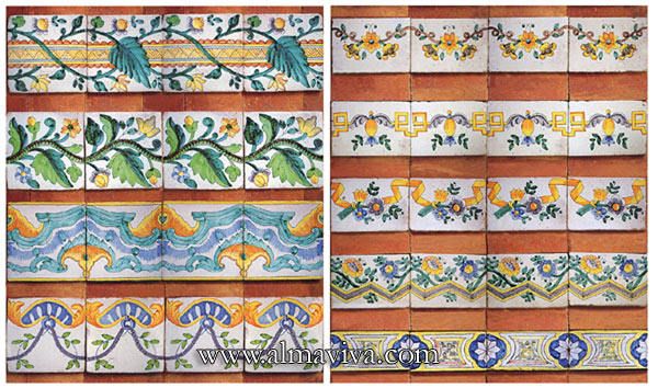 Azulejos Almaviva-Ref. AC07 - Friezes from the 18th c.